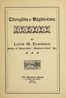"Cover of ""Thoughts at night-time"""
