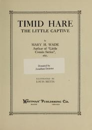 "Cover of ""Timid Hare"""