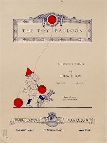 """Cover of """"The toy balloon"""""""