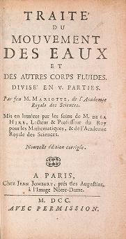 """Cover of """"Traité du mouvement des eaux et des autres corps fluides"""""""