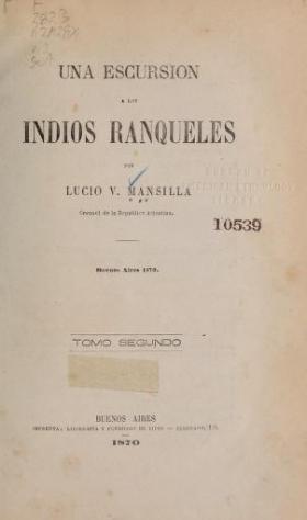 """Cover of """"Una excursión a los indios ranqueles"""""""