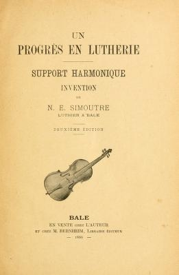 "Cover of ""Un progrès en lutherie"""