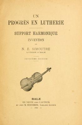 """Cover of """"Un progrès en lutherie"""""""