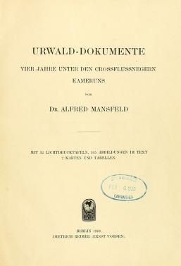 "Cover of ""Urwald-Dokumente"""