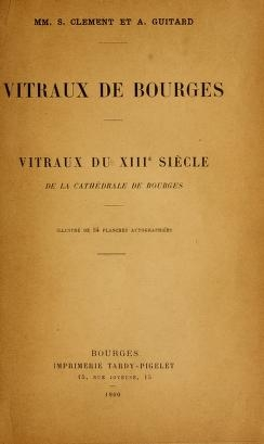 """Cover of """"Vitraux de Bourges"""""""