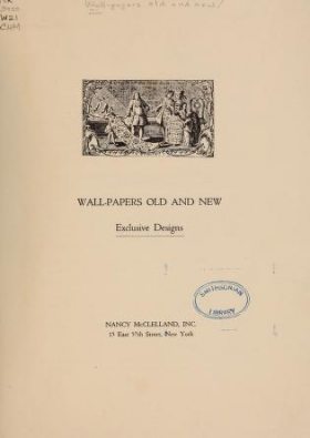 "Cover of ""Wall-papers old and new"""