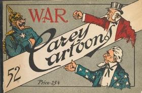 """Cover of """"War, 52 Carey cartoons"""""""