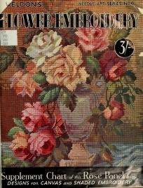 """Cover of """"Weldons flower embroidery"""""""