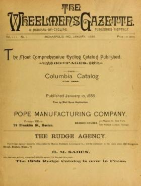 "Cover of ""The Wheelmen's gazette"""