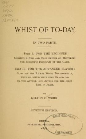 "Cover of ""Whist of to-day"""