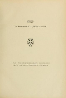 "Cover of ""Wien am Anfang des XX. Jahrhunderts"""