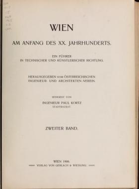 "Cover of ""Wien am Anfang des XX. Jahrhunderts"""
