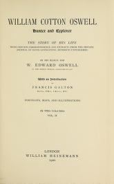 Cover of William Cotton Oswell, hunter and explorer