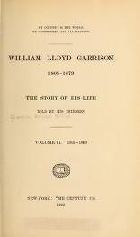 """Cover of """"William Lloyd Garrison, 1805-1879"""""""