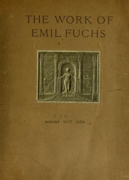 """Cover of """"The work of Emil Fuchs"""""""