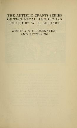 "Cover of ""Writing & illuminating, & lettering"""