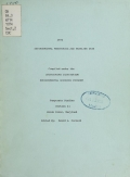 Cover of 1973 environmental monitoring and baseline data