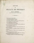 """Cover of """"Addenda to Résumé des travaux de physiqu"""""""