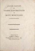 Cover of Aloysii Galvani De viribus electricitatis in motu musculari commentarius