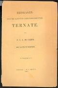 """Cover of """"Bijdragen tot de kennis der residentie Ternate"""""""