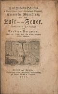 Cover of Carl Wilhelm Scheele's d. Königl. Schwed. Acad. d. Wissenschaft. Mitgliedes, Chemische Abhandlung von der Luft und dem Feuer