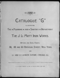 Cover of Catalogue 'G'
