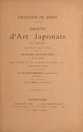 Cover of Collections Ph. Burty, Objects d'art Japonais et Chinois que seront vendus a Paris...