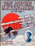 """Cover of """"Come Josephine in my flying machine"""""""