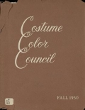 "Cover of ""Costume Color Council presents costume color families for fall, 1950"""