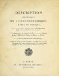 """Cover of """"Description botanique du Chiranthodendron"""""""
