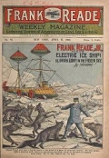 Cover of Frank Reade weekly magazine - containing stories of adventures on land, sea & in the air.