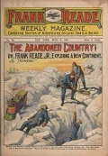 "Cover of ""Frank Reade weekly magazine : containing stories of adventures on land, sea & in the air."""