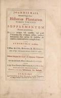 Cover of Historia plantarum