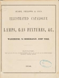 Cover of Illustrated catalogue of lamps, gas fixtures, &c