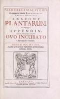 """Cover of """"Marcelli Malpighii philosophi & medici Bononiensis, è Regia Societate, Anatome plantarum"""""""