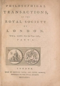 """Cover of """"Philosophical transactions of the Royal Society of London"""""""