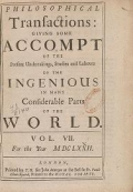 """Cover of """"Philosophical transactions of the Royal Society of London."""""""