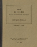"Cover of ""Report on the ENIAC (Electronic numerical integrator and computer) /"""