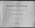 Cover of Sammlung architektonischer Entwürfe