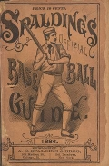 "Cover of ""Spalding's base ball guide, and official league book for 1886"""