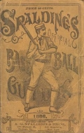 Cover of Spalding's base ball guide, and official league book for 1888