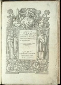 """Cover of """"Theatrum instrumentorum et machinarum Iacobi Bessoni ... /"""""""