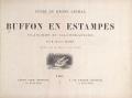 """Cover of """"Types du règne animal. Buffon en estampes /"""""""