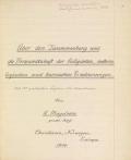 Cover of Über den Zusammenhang und die Verwandtschaft der biologischen, meteorologischen und kosmischen Erscheinungen