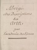 Cover of Abrel§el`des descriptions des artes