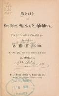 Cover of Abriss des Deutschen Säbel- u. Stossfechtens