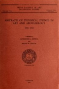 "Cover of ""Abstracts of technical studies in art and archaeology, 1943-1952 /"""