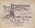 Cover of Accellerationen