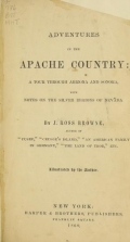 Cover of Adventures in the Apache country