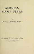 "Cover of ""African camp fires"""